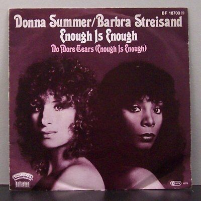 "(o) Donna Summer & Barbra Streisand - Enough Is Enough (7"" Single)"