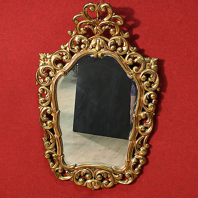 Mirror spanish wood painted golden furniture frame antique style 900 XX cabinet