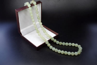 Vintage Chinese Natural translucent jade Hand-carved beads jade Necklaces