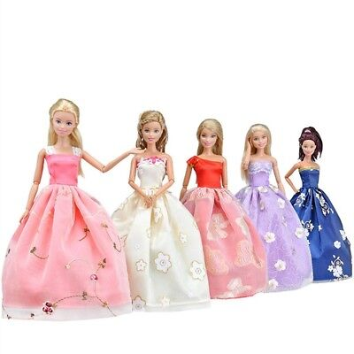 Handmade Dress Wedding Party Clothes For Barbie Doll 5 different styles