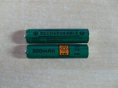 2 x AAA Rechargeable batteries 500 mAh for BT1000 BT1500  - NEW