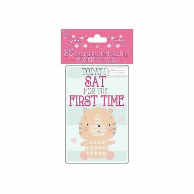 Baby girl moment cards milestone 30 cards new baby shower maternity leave gift