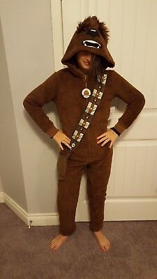 Star Wars Chewbacca Chewie Wookie Onepiece BodySuit Disney Pajamas Medium (8-10)