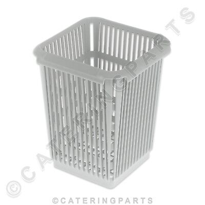 Grey Plastic Square Cutlery Rack Insert Single Compartment Basket Dishwasher