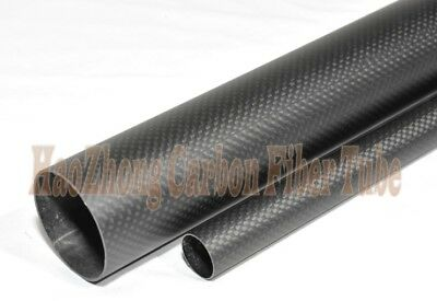 38mm OD x 36mm ID Carbon Fiber Tube 3k 500MM Long (Roll Wrapped) pipe 38*36