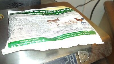 OXYTETRACYCLINE100  gram  HCL SOLUBLE POWDER   for all  Animals  Chickens, Bees