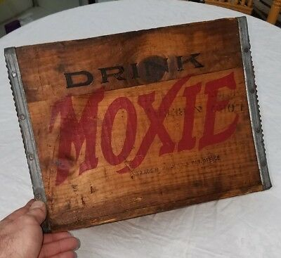 Antique Drink MOXIE The Moxie Company Boston Mass. Advertising Soda Crate Box