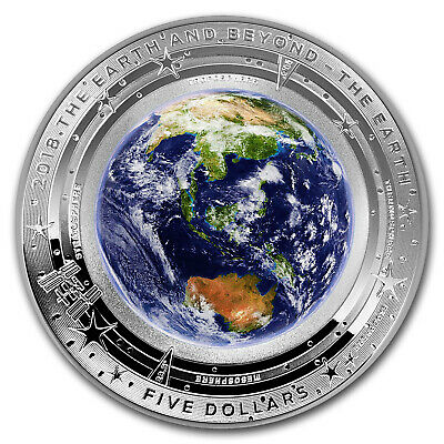 2018 Australia 1 oz Silver $5 Domed Earth and Beyond: The Earth - SKU#166963