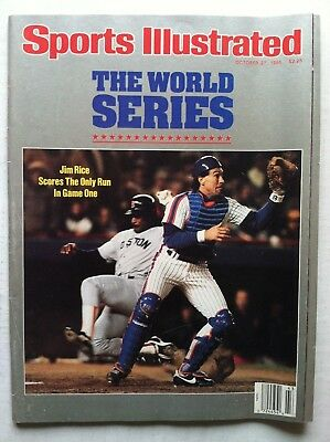 1986 NEW YORK METS CARTER WORLD SERIES RED SOX RICE Sports Illustrated NO LABEL