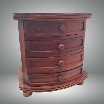 Handmade Miniature Chest Of Drawers Cabinet Apprentice Piece