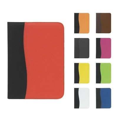 NEW A4 PU Leather Organiser Conference Document Folder Work School FREE Notepad