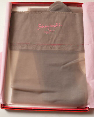 Vintage Schiaparelli Nylon Stockings Size 11 Tall One Pair with Box