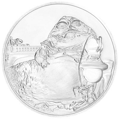 2018 Niue Star Wars Classic Jabba Hutt 1 oz. Silver $2 Proof Coin OGP SKU52856