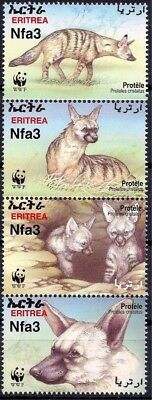 Eritrea 2001 WWF Aardwolf/Earth Wolf Animals Nature Wildlife Environment 4v MNH