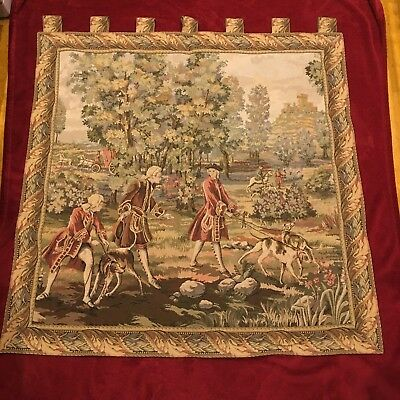 Vintage Tapestry Wall Hanging Scenic Image Made in West Germany (Large)