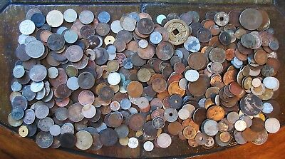 6+ Pounds World Culls Coins >Huge Interesting Lot > See Pics > No Reserve