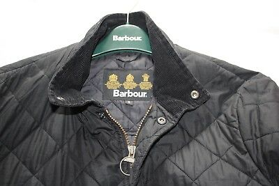 "Men's 100% Genuine Barbour Chelsea Quilted Jacket Uk S 21"" P2P"