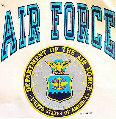 Vintage 80s United States Air Force Iron-On Transfer Super RARE!
