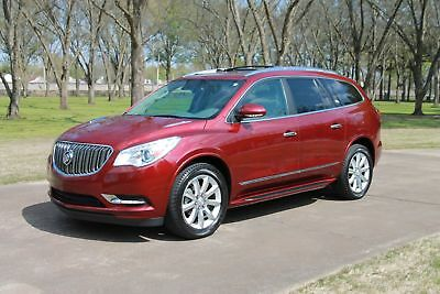 "Buick Enclave Premium  MSRP $53280 One Owner Perfect Carfax Heated and Cooled Seats Navigation TV/DVD 20"" Wheels"