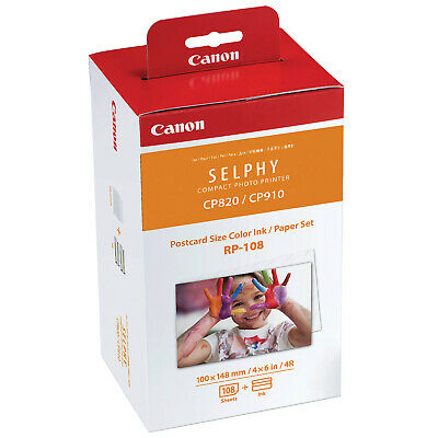 Canon RP-108 Color Ink / Paper Set - 4x6 inch 108 Sheets for Selphy CP Printers