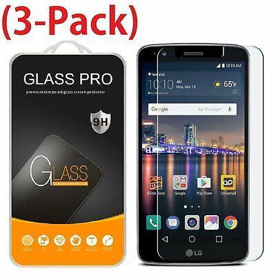 3-Pack For LG Stylo 3 Plus Tempered Glass Screen Protector Saver Shield