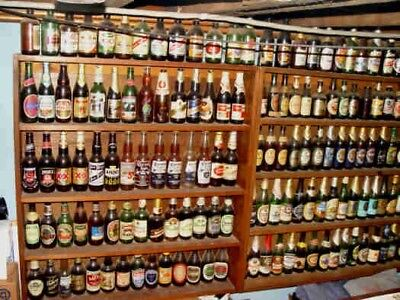 beer bottle collection with over 1200+ bottles. 1900s to 2000s