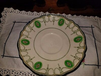 Vintage Royal Doulton England Bone China Coffee cup Plate Countess Green -
