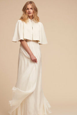 Bhldn Elly Capelet Circa By Silver Moon One Size Wedding Bride Bridal Cover Up