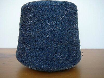 BIG 850g CONE 2/30 PLY BLUE/BLACK YARN