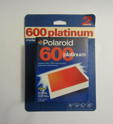 UNOPENED 2PACK OF POLAROID 600 PLATINUM INSTANT FILM  (expired date)