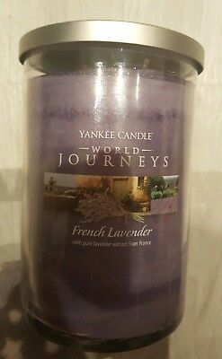 Yankee candle world journeys. 566g. Two wicks. Container candle with metal lid.