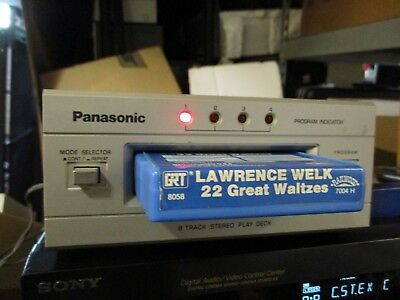Vintage Panasonic 8-Track Stereo Deck Tape Player Model RS-853 *Very Clean*
