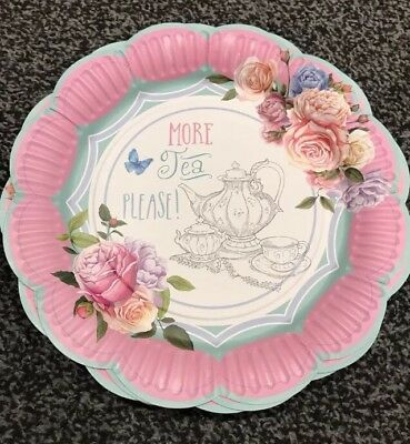 Alice In Wonderland Afternoon Tea Party Plates 9 Pack Of 12 Mad Hatter