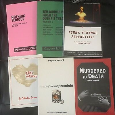 Lot of 7  Playscripts others Scripts Acting Comedy Drama Theater