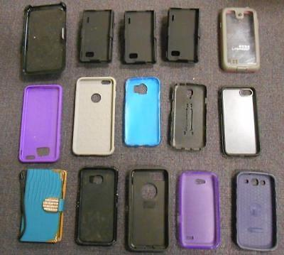 Lot of 15 Various Phone Cases *USED*