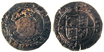 Base Silver Groat of Henry VII Posthumous Issue Rare with Sunbursts Reverse