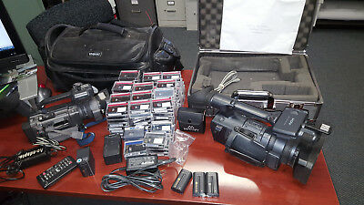 Sony video camera lot, 2 Sony Video Cameras OVER 100MIni DV TAPES LOTS OF extras
