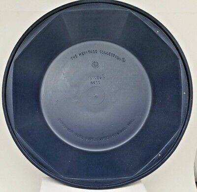 "Case of 12 Carlisle Dinex #4300 Heritage Dark Blue 10"" Insulated Dome New"