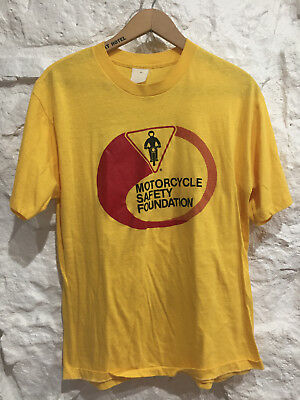 Vintage 70's 80's MOTORCYCLE SAFETY FOUNDATION T-shirt