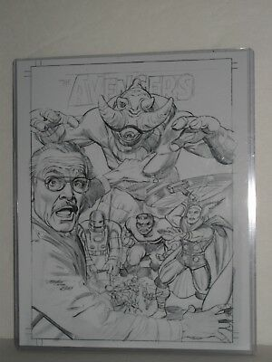 MIKE MAYHEW AVENGERS No 1 PRINT Stan Lee Sketch Numbered Edition of 2500