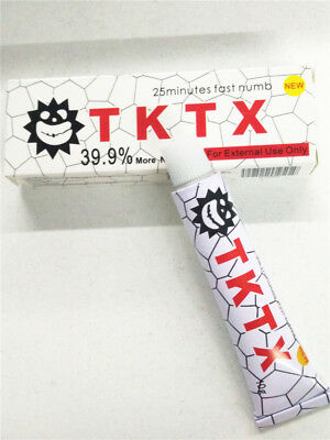 TKTX 39.9% Numbing Tattoo Body Anesthetic Fast Numb Cream Semi Permanent White