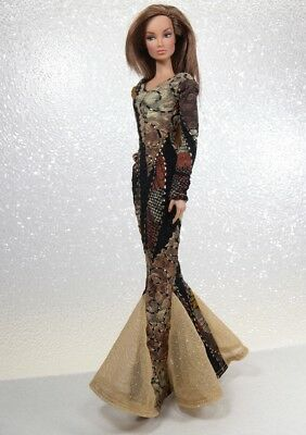 Multi Color Long Sleeve Gown by KK Fits Fashion Royalty, FR2, NuFace