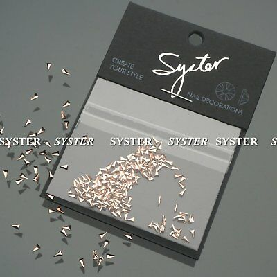 SYSTER 200 Pcs Rose Gold 3D Metal Nail Art Decorations Frame #S1009
