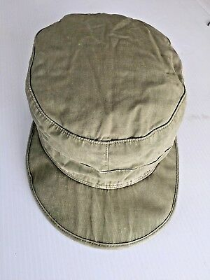 Wwii G.i. M1943 O.d. Cotton Field Cap With Visor