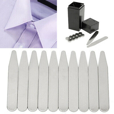21pcs Metal Collar Stays Bone Stiffeners With Magnet in Box For Men's Shirt