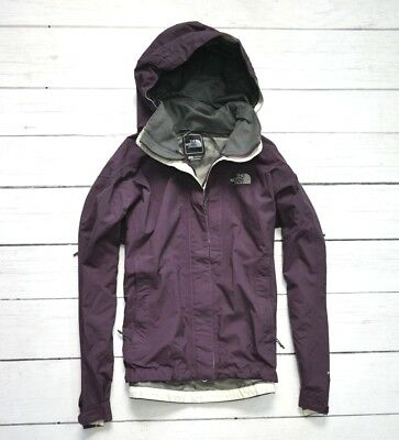 THE NORTH FACE HyVent Waterproof Purple Womens Jacket Outdoor Hiking Size Medium