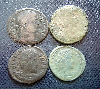 ROMAN IMPERIAL / 4 x BRONZE COIN LOT 3.