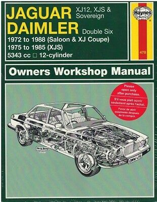 Livre JAGUAR DAIMLER OWNERS WORKSHOP MANUAL / HAYNES
