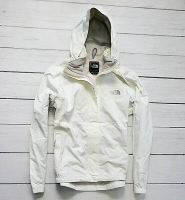 THE NORTH FACE HyVent Waterproof White Womens Jacket Outdoor Walking Size Medium