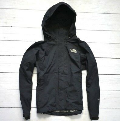 THE NORTH FACE HyVent Waterproof Black Womens Jacket Outdoor Walking Size XSmall